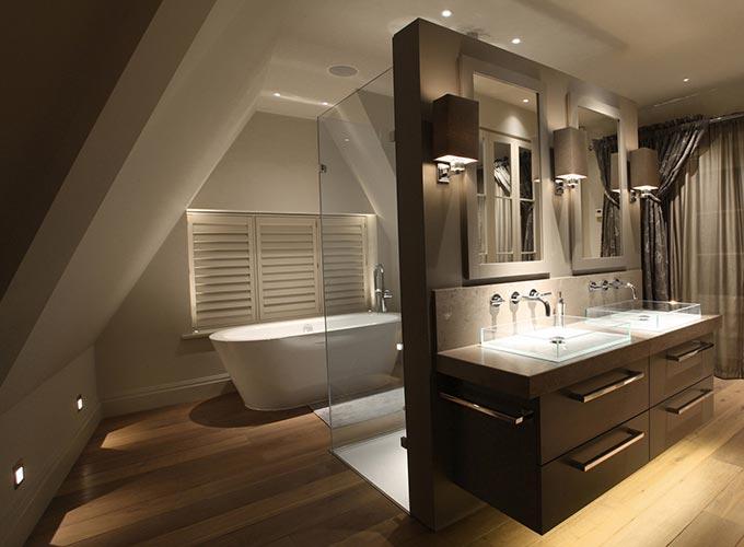 Ефектно осветление в банята