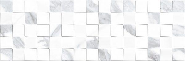 Декор Кубик Статуарио е гланциран релефен фаянс